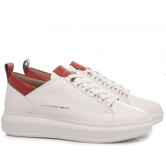 Alexander Smith Women's Sneakers W107481 White-Red