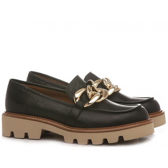 MAT:20 Women's Loafers Leather West Black 3256