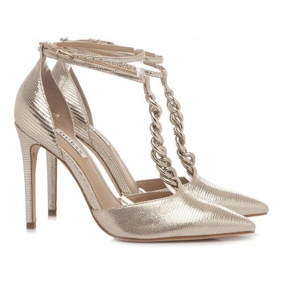 Guess Women's Shoes Decollété Gold