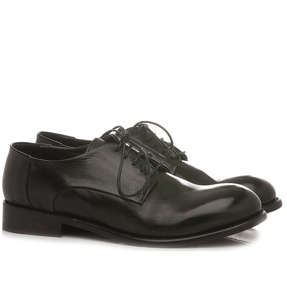 JP David Men's Shoes Leather Black 36526/18