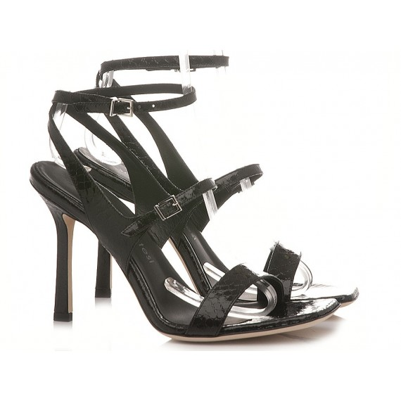 Sergio Levantesi Women's Sandals Tanya Viper Mirror Black