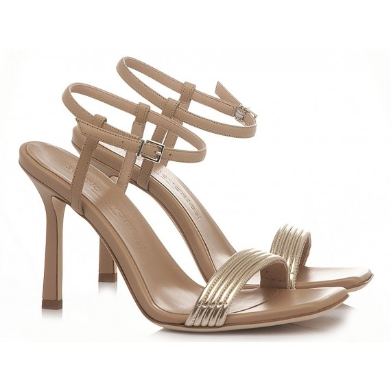 Sergio Levantesi Women's Sandals Tess Nude-Platinum