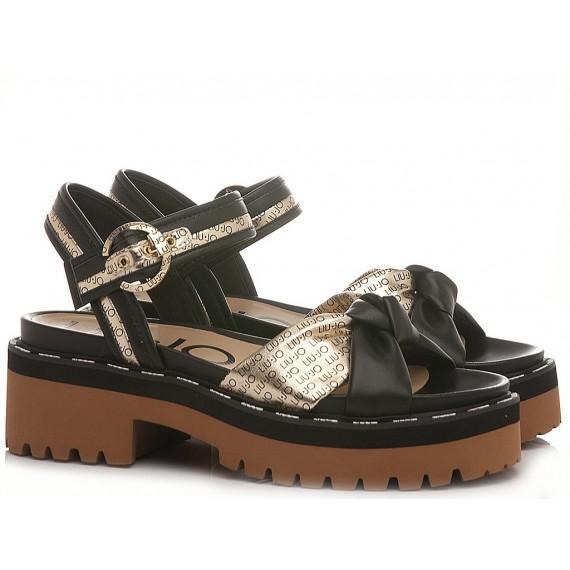 Liu.Jo Women's Sandals Pink Summer 8 Black