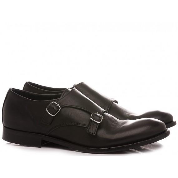Pawelk's Men's Classic Shoes Leather Black 20029