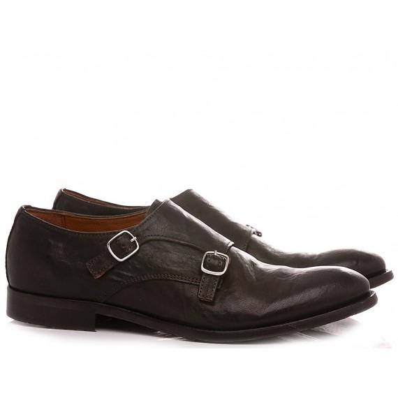 Pawelk's Men's Classic Shoes Leather Ebony 20029