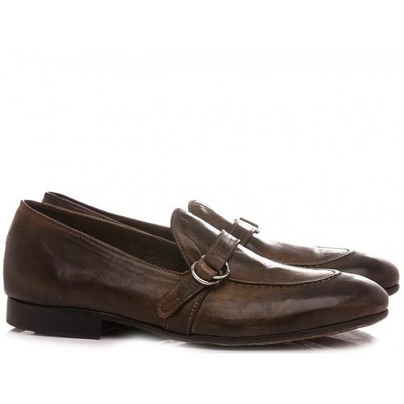 Pawelk's Men's Loafers Leather Birch 20025