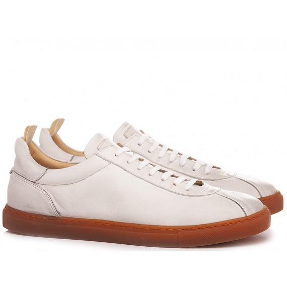 Pawelk's Men's Sneakers Leather White 401