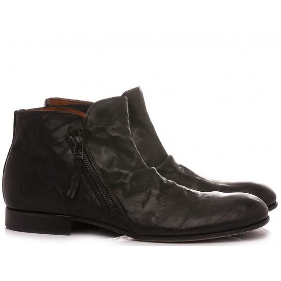Pawelk's Men's Ankle Boots Leather Black 21103