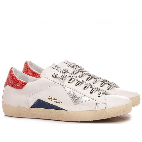 Pawelk's Men's Sneakers Leather White 401