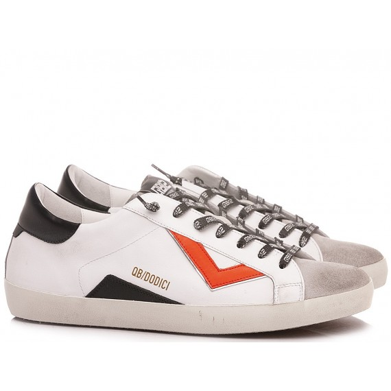 QuattroBarraDodici QB12 Men's Sneakers Supreme U067 Leather White