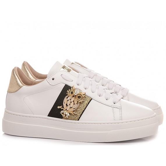 Stokton Women's Sneakers Leather White 808-D