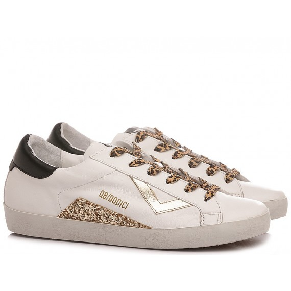 QuattroBarraDodici QB12 Women's Sneakers Suprime-D111 Leather White