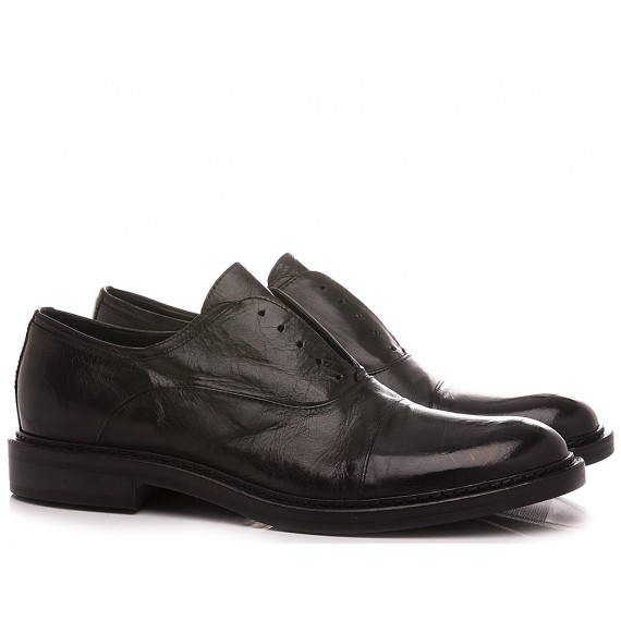 Hundred/100 Men's Classic Shoes Black Leather M681-35