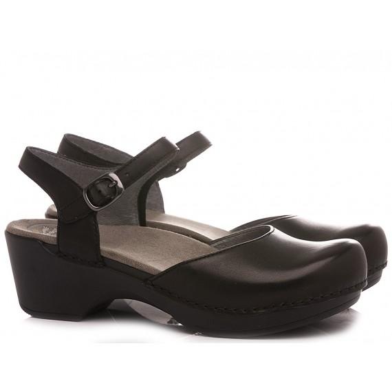 Dansko Women's Sandals Leather Black 9840-320200