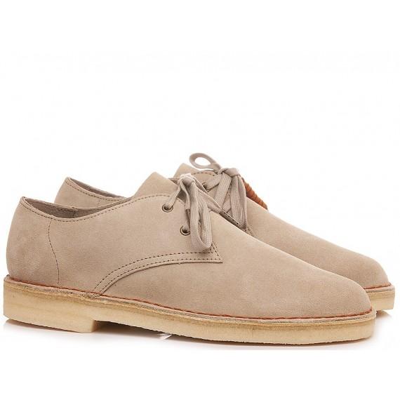Clarks Man's Shoes Desert Khan Sand Suede
