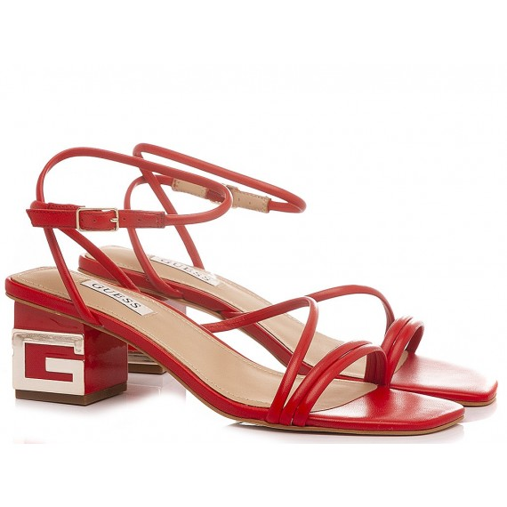 Guess Women's Sandals Leather Red