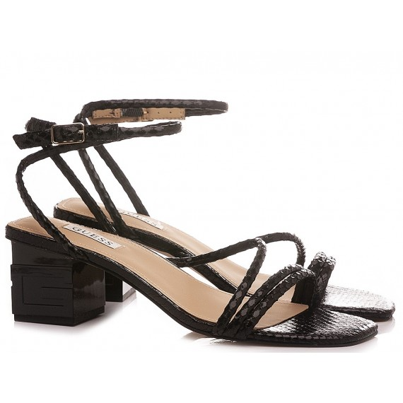 Guess Women's Sandals Leather Black