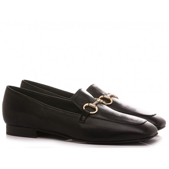 Poesie Veneziane Women's Shoes Loafers Leather Black KIG40