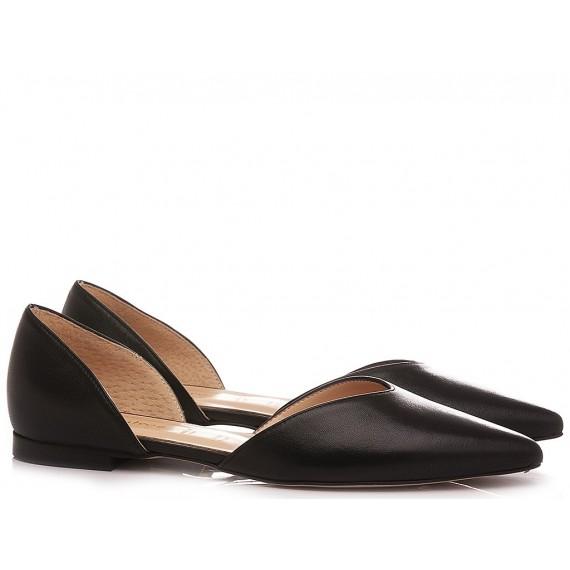 Les Autres Women's Ballerina Shoes Leather Black D1900