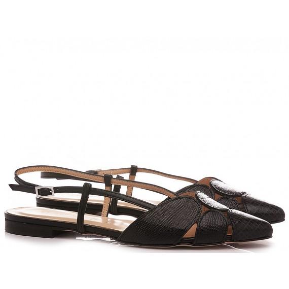 Les Autres Women's Ballerina Shoes Leather Black 1990