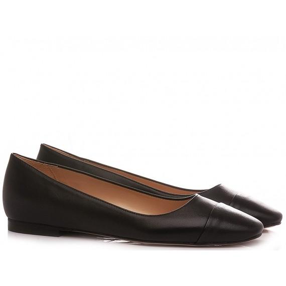 Les Autres Women's Ballerina Shoes Leather Black 270