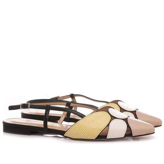 Les Autres Women's Ballerina Shoes Leather Blush 1990