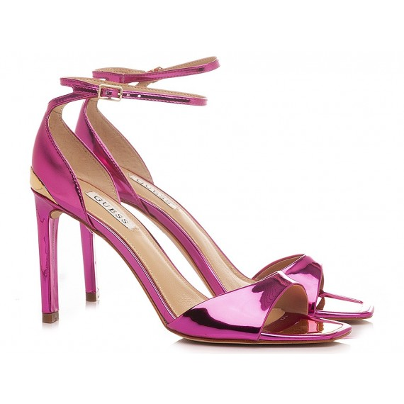 Guess Women's Sandals Leather Mirror Pink