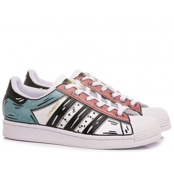 Adidas Children's Sneakers Superstar Customized Red-Tiffany