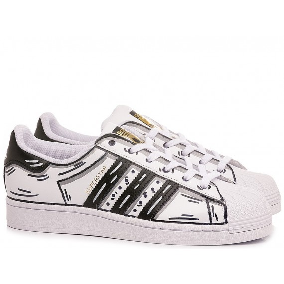 Adidas Children's Sneakers Superstar Customized Black