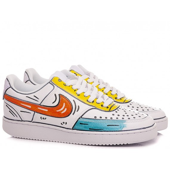 Nike Women's Sneakers Court Vision Low Costumized