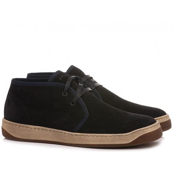 Frau Men's Desert Boots Suede Navy 2955