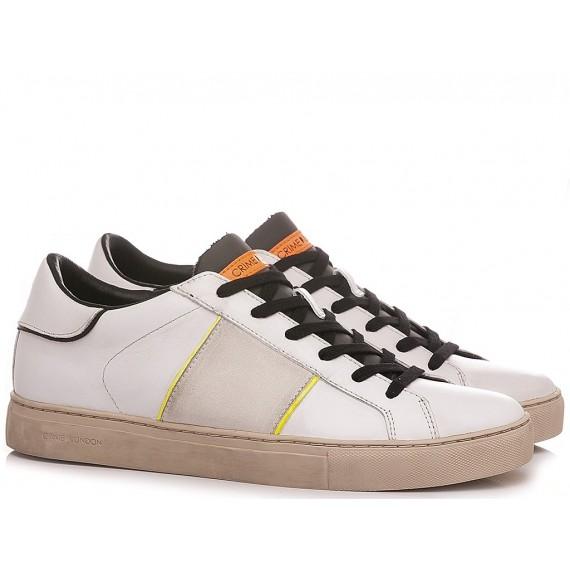 Crime London Men's Sneakers Low Top Essential White