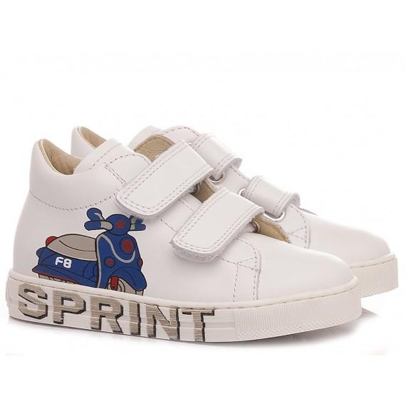 Falcotto Children's Shoes Sneakers Avispa White-Light Blue