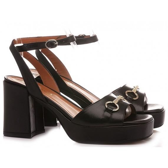 Les Venues Women's Sandals Leather Black 1607