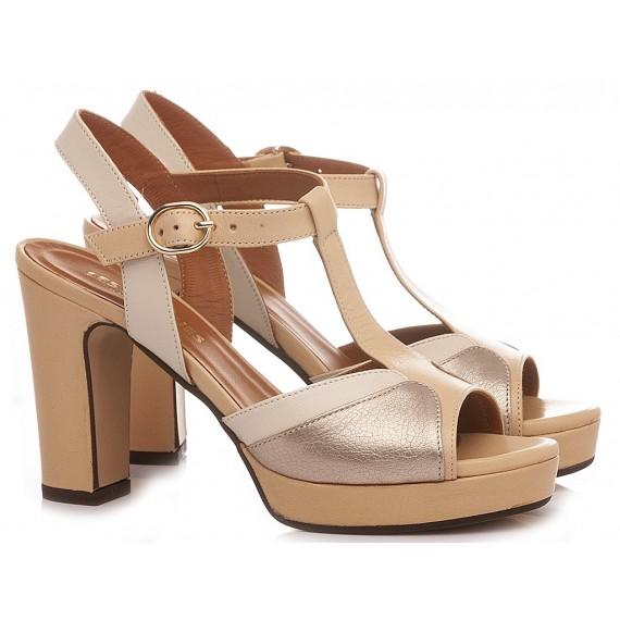 Les Venues Women's Sandals Leather Beige 6258