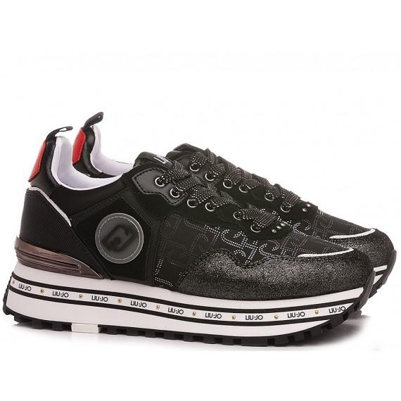 Liu.Jo Women's Sneakers Maxi Wonder 1 Satin Black