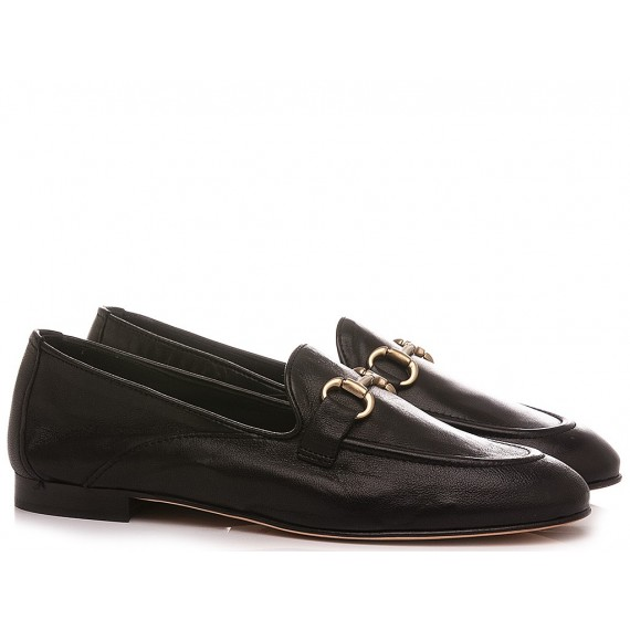 Poesie Veneziane Women's Shoes Loafers Leather Black JJA40