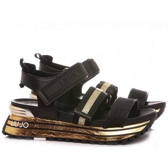 Liu.Jo Women's Sandals Maxi Wonder Sandal 7 Black