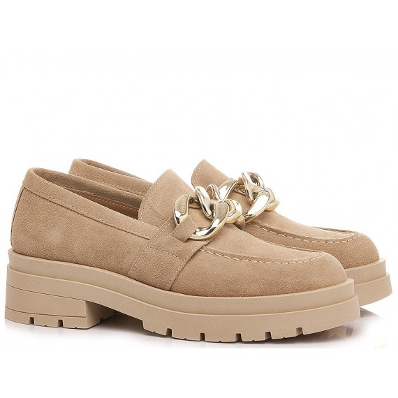 Giacko Women's Loafers Suede Beige