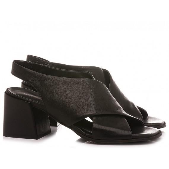 MAT:20 Women's Sandals Leather Black 6501