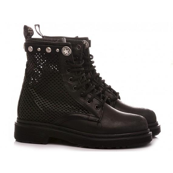 RepKo Women's Ankle Boots Leather Black DM41C