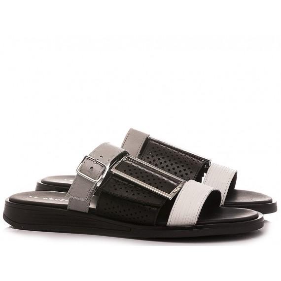Le Bohèmien Women's Slippers Leather Black-White S51