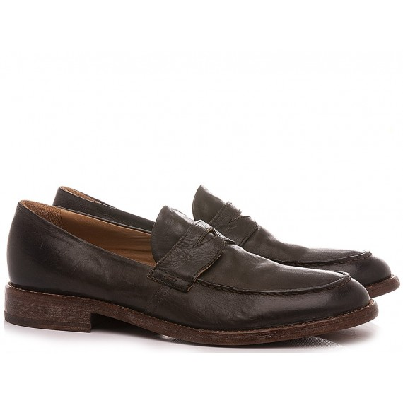 Moma Men's Shoes Loafers Leather Coffee 2ES022-SO
