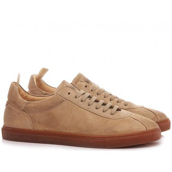 Pawelk's Men's Sneakers Leather Sand 401