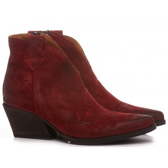 Les Venues Women's Western Boots Suede Wine 9550