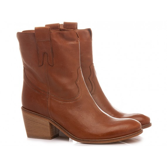 Curiositè Women's Western Ankle Boots Leather 1745