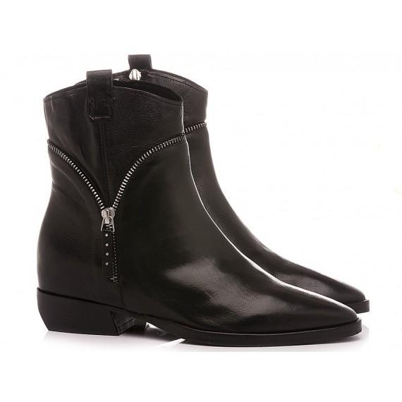 Elvio Zanon Women's Ankle Boots EM3704X Black