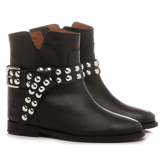Via Roma 15 Women's Ankle Boots Leather Black 3546