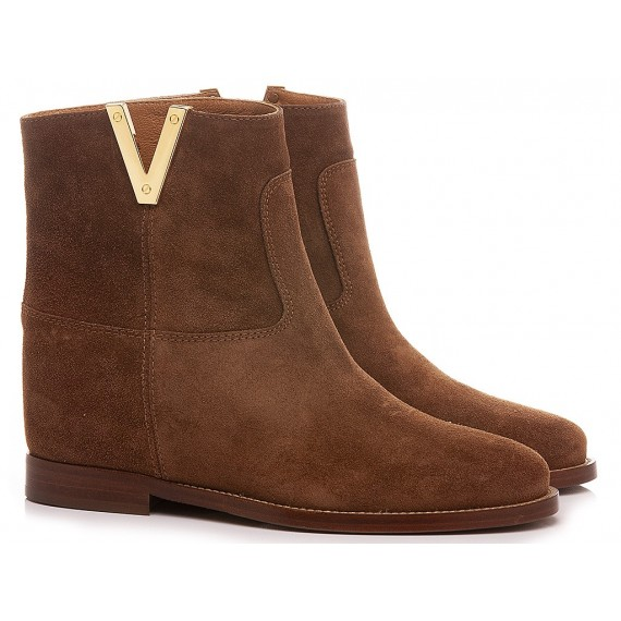 Via Roma 15 Women's Ankle Boots Suede Tan 2576