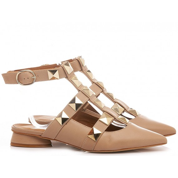 Mivida Women's Shoes Leather Nude A0706